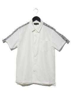 ラインロゴオープンカラーシャツ