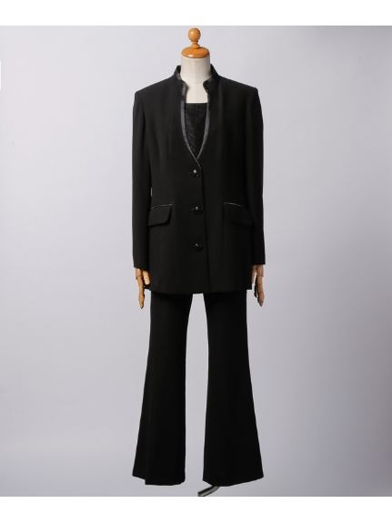 Sun Wind (サンウィンド) 胸当て付きパンツスーツ 黒