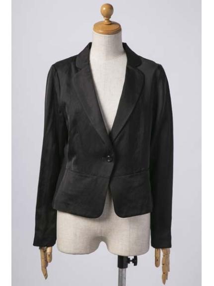 HIROKO BIS (ヒロコビス) サテンジャケット ブラック