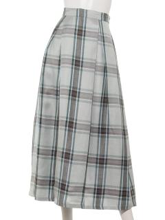 チェックタックフレアスカート