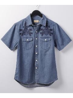 刺繍デニムシャツ