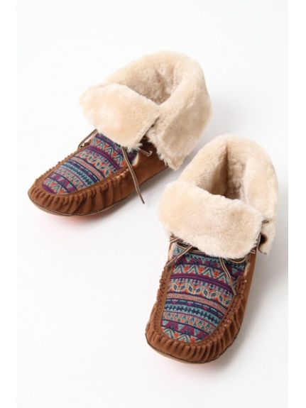 ELLE SPORTS(shoes) (エルスポーツ(シューズ)) ショートモカシン ブラウン