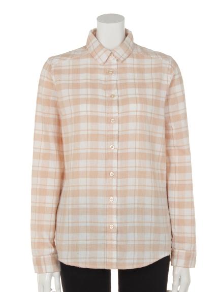 DRWCYS (ドロシーズ) basicチェックシャツ ベージュ