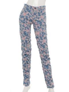 シャーリング花柄パンツ