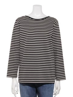 【SPOOL BY B&H】Back Uneck Border L/S