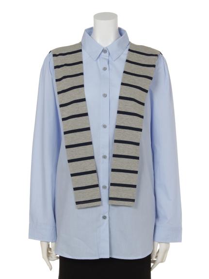 soobinie (スビニエ) スタイリッシュシャツ ブルー