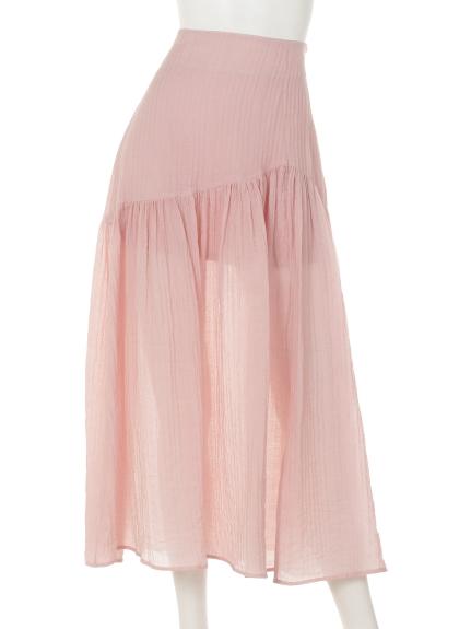 Marblee (マーブリー) Marbleeプリーツチュールスカート ピンク