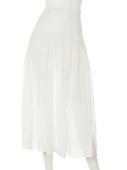 Marblee (マーブリー) Marbleeプリーツチュールスカート オフホワイト