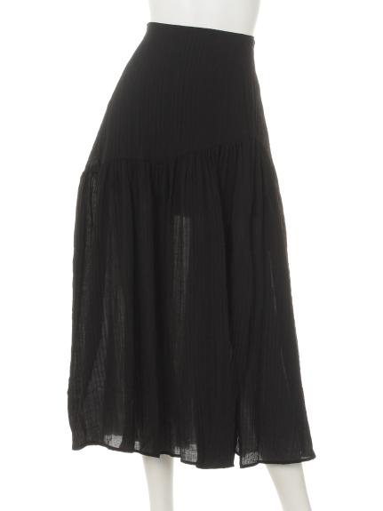 Marblee (マーブリー) Marbleeプリーツチュールスカート ブラック