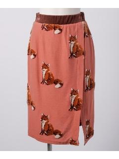 キツネパイルジャガードタイトスカート