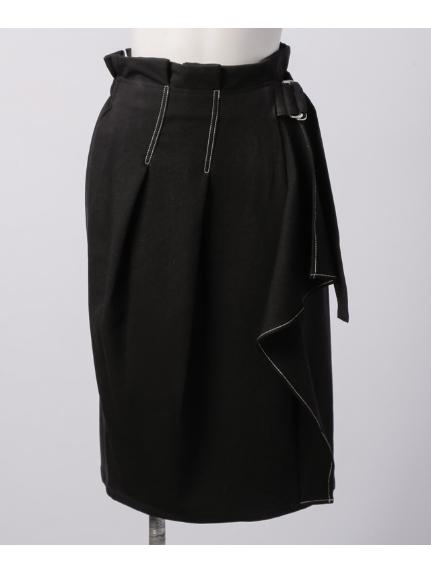 Titilate Valet (ティティレイトヴァレット) ベルテッドラッフルスカート ブラック