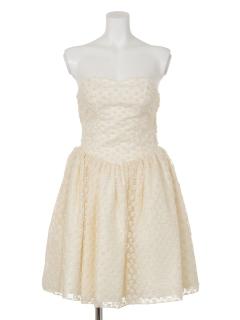 レースベアウエディングドレス