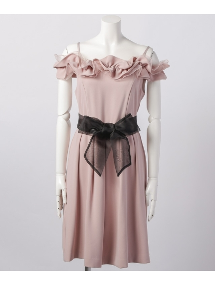 Dorry Doll (ドリードール) ベルト付きワンピース ピンク