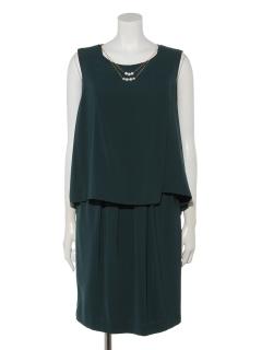 【luxe brille】パール調&ビジューネックレス付き3wayパンツセットアップワンピースドレス