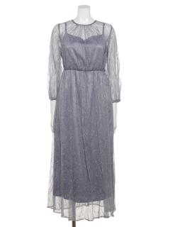 【Luxe Brille】総チュールレースドレス
