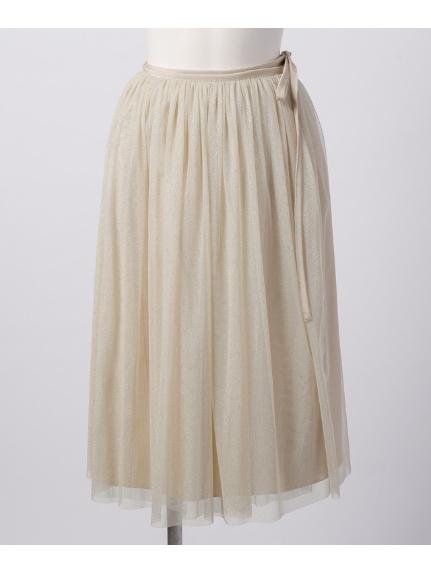 KATHARINE ROSS (キャサリンロス) チュールラップスカート ベージュ