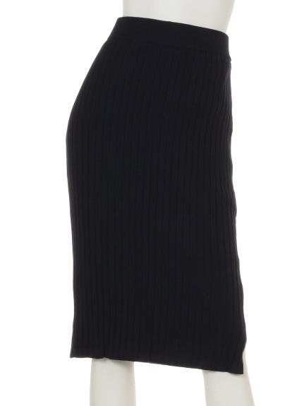 KATHARINE ROSS (キャサリンロス) ワイドリブニットスカート ネイビー
