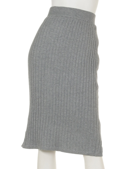 KATHARINE ROSS (キャサリンロス) ワイドリブニットスカート グレー