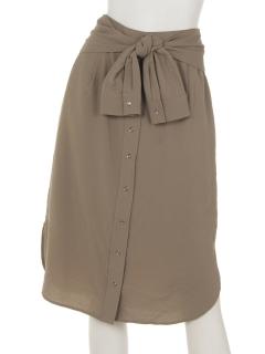 スパンツイルシャツスカート