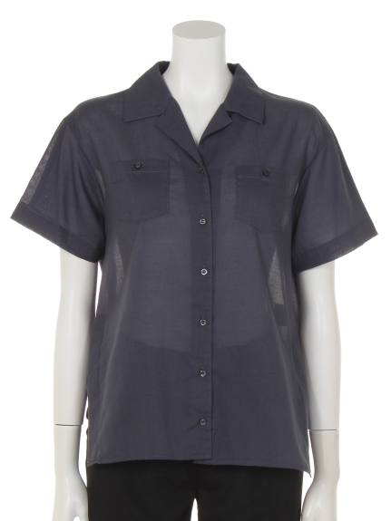 KATHARINE ROSS (キャサリンロス) ボウリングシャツ ネイビー