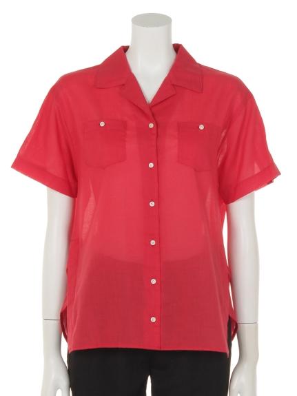 KATHARINE ROSS (キャサリンロス) ボウリングシャツ レッド