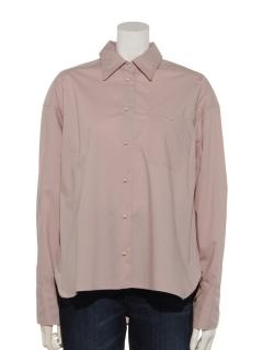パール調釦シャツ