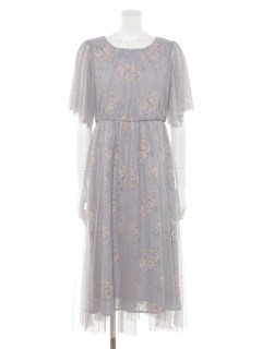レースジャガードドレス