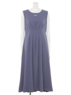 ウエストタックノースリーブドレス