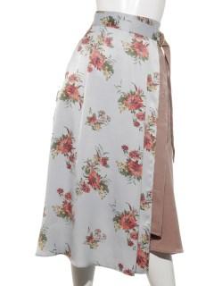 オータムフラワープリントスカート