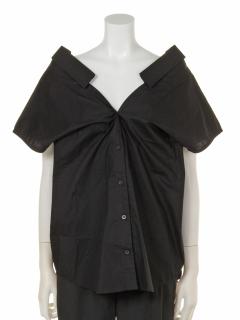 【LEFUA LEA】前後両V開きドルマン半袖シャツ