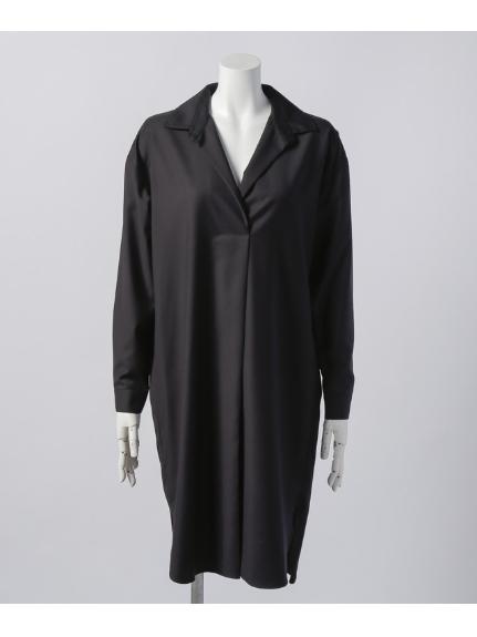 B DONNA (ビドンナ) ロングツイルシャツ ブラック