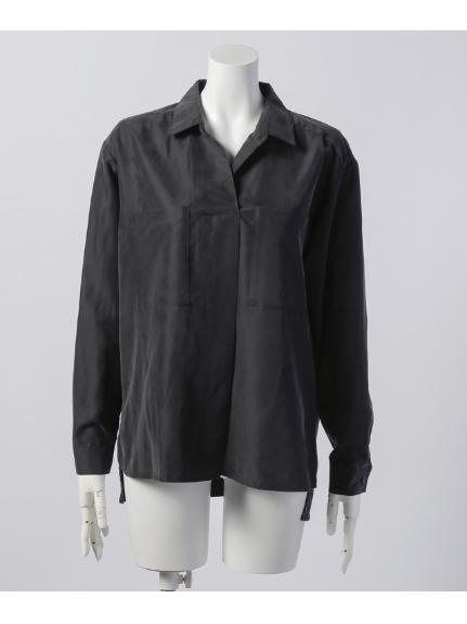 B DONNA (ビドンナ) パウダーポプリンシャツ ブラック