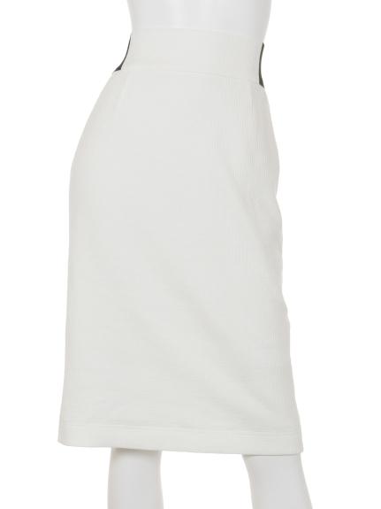 B DONNA (ビドンナ) デフォルメワッフルスカート ホワイト