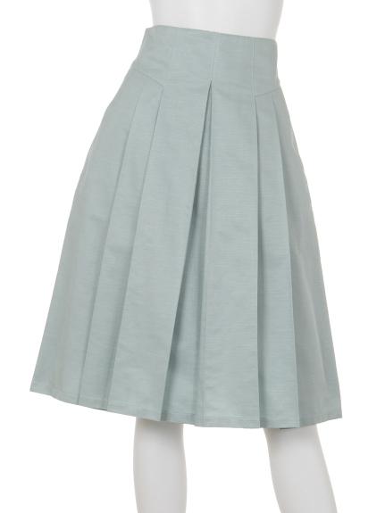 B DONNA (ビドンナ) グログランスカート ライトグリーン