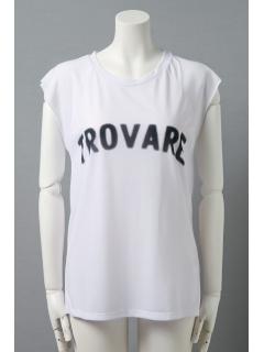 ロゴプリントノースリーブTシャツ