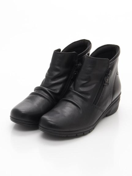 periwinkle (ペリウィンクル) ダブルファスナーコンフォートブーツ ブラック