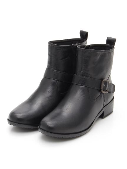 periwinkle (ペリウィンクル) ベルトデザイントラッドブーツ ブラック
