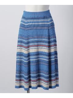 【STORICO TRICOT】 マルチボーダースカート