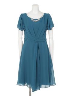 2枚袖センタータックドレス