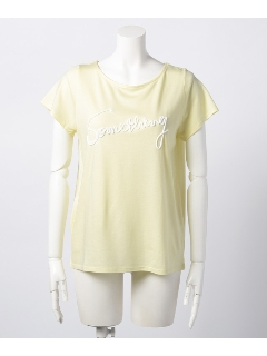 Somethingロープ刺繍Tシャツ