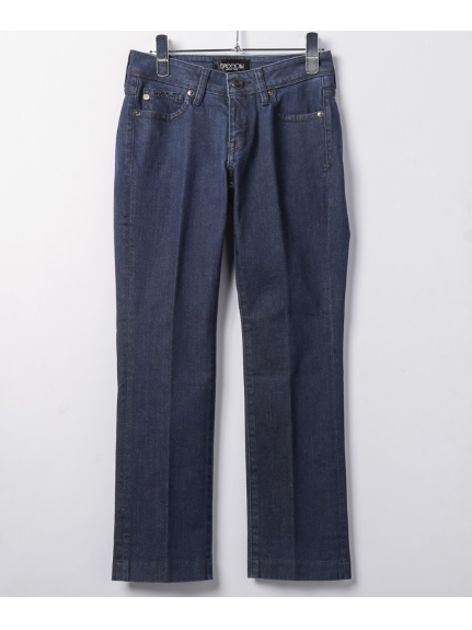 SASSON (サッソン) SLIM FLARED ANKLE PANTS ブルー
