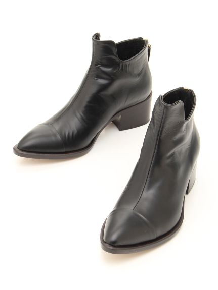 POE (ポー) 【日本製】ショートブーツ ブラックエナメル