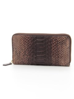 Zip-Around Wallet Dark Brown