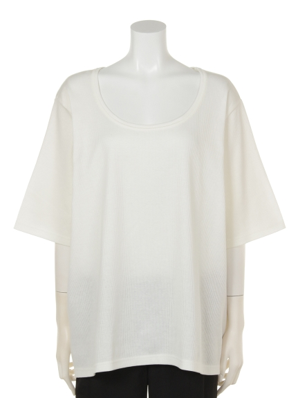 QUINTY (クインティ) テレコTシャツ オフ