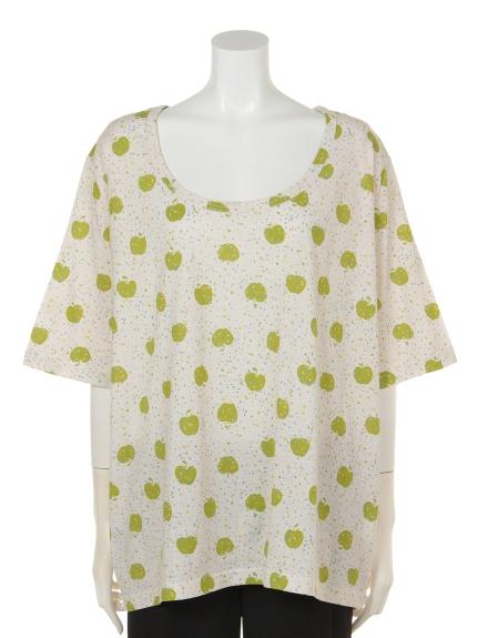 82%OFF QUINTY (クインティ) アップルプリントTシャツ グリーン