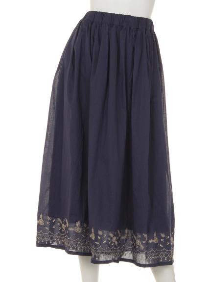Tasha ruby (ターシャルビー) 裾刺しゅうスカート ネイビー