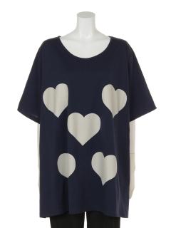 ハートプリントTシャツ