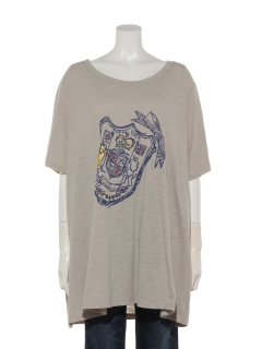 リボンプリントロングTシャツ
