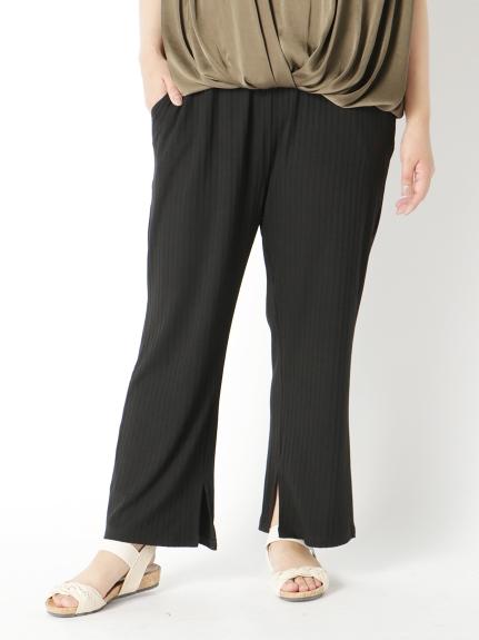 50%OFF Tasha ruby (ターシャルビー) 裾スリットワイドパンツ ブラック