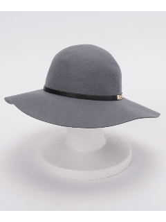 フェルトカウヘアー帯付ツバ広HAT